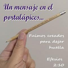 Dejar huella... (Fotero) Tags: ifttt instagram mensaje texto biblia lapiz portalapices efesios dibujo