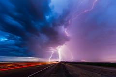 Morning Light (Mike Olbinski Photography) Tags: 20180721 arizona buckeye canon1124mmf4 canon5dsr cars farms lighttrails lightning monsoon mountains rain roads sunrise thunderstorm whitetanks