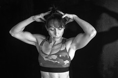 female body builder (ABWphoto!) Tags: usa virginia gym exercise posing bodybuilder exerciseclothing flex shadows muscles athletic torso muscular