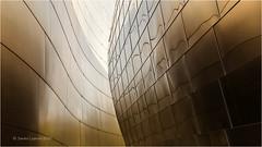 Golden Light (Sandra Lipproß) Tags: architecture modern abstract losangeles waltdisneyconcerthall frankgehry california travel building usa united states westcoast frankogehry dekonstruktivismus deconstructivism