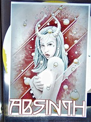 Manchester street art = Absinth (rossendale2016) Tags: drink alcoholic popular absinthe