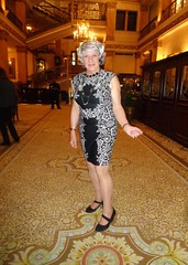 This Woman Craves Attention (Laurette Victoria) Tags: dress silver woman laurette hotel lobby milwaukee pfisterhotel