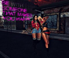 Elora & Raven - FU1 (Elora Moon) Tags: secondlife friends friendship love fun selfie photography games poses family sisters party