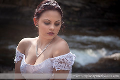Lace Over the Shoulder (Laura K Bellamy) Tags: bride bridal bridals portraits wedding weddings