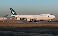 CPA_CX_B74N_BLJN_FRA_FEB2019 (Yannick VP) Tags: civil commercial cargo freight transport aircraft airplane aeroplane jet jetliner airliner cx cpa cathaypacific airlines boeing b747 jumbo 7478 b748 b74n f freighter bljn frankfurt rheinmain airport fra eddf germany de europe eu february 2019 departure takeoff runway rwy 18 aviation photography planespotting airplanespotting evening golden light sunset
