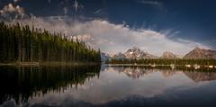 Jackson Lake (PrevailingConditions) Tags: jacksonlake grandtetons grand tetons national park nps mountains lake trees sunrise reflection