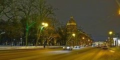 Perspective nocturne (Le.Patou) Tags: winter hiver neige traffic snow street church cathedral cathédrale fz1000 road night санктпетербург stpetersburg saintpetersbourg россия russia russie challengesurflickr panoramic city streetview cof073mark cof073dmnq cof073chon