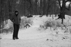 X on snow (lumpy79) Tags: praktica mtl5 helios44m 258 ilford 400 1600 snow x