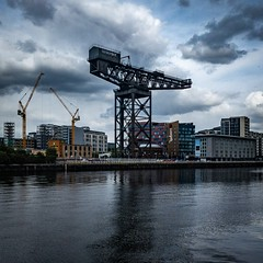 Crane on the Clyde (andymulhearn) Tags: iphone xr clyde glasgow