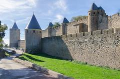 CARCASSONNE-031-LES REMPARTS-OCCITANIE-PANORAMIQUE-_DSC0402 (bercast) Tags: aude carcassonne chateau chateaumedival france lesremparts occitanie bc bercast lacitédecarcassonne lamuraille