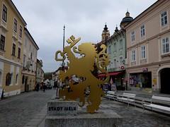 Melker Wappen / Coat of arms of Melk (ursula.valtiner) Tags: altstadt oldtown melk wappen coatofarms fusgängerzone pedestrianzone loweraustria niederösterreich austria autriche österreich