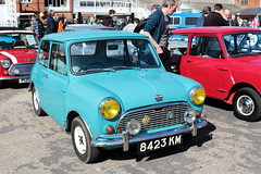 1963 Austin Mini 8423KM Brooklands Mini Day March 2019 (davidseall) Tags: 1963 austin mini mk1 car 8423km 8423 km classic original old shape style great british brooklands day mrach 2019 weybridge surrey uk