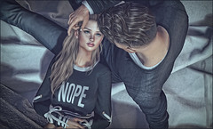 *You're safe with me, I promise. And when you get scared: look me in the eyes, hold me a littlebit tighter and smile, because I'm not going anywhere* ❤️ (Ⓐⓝⓖⓔⓛ (Angeleyes Roxley)) Tags: ardent poses remarkable sl secondlife on9 event couple bento cute