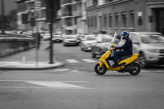 city (marco_brst) Tags: verona cityview city colour panning amazing italy italia veneto view street yellow car moto people europe landscape bw blackandwhite explore beautiful