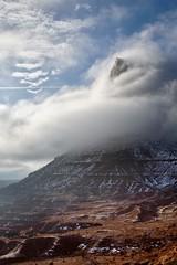 Poking through the cloud ! (WayneG58) Tags: roadtrip landscape navajoland mountain clouds usa arizona monumentvalley