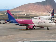 HA-LYT - Wizz Air A320 (✈ Adam_Ryan ✈) Tags: tfs tenerifesouth tenerife canaryislands canaries spain airport airbusboeing aircraft sun p510 plane planespotting flight halyt wizz wizzair a320 april 2019