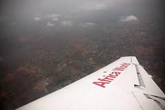 Flying in to Accra, Ghana (inyathi) Tags: westafrica ghana wings aeroplanes flights flying aerialphotos accra africa