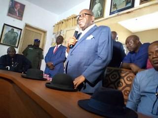 Gov Dickson pays condolence visit to His Majesty & the people of Kalabari Kingdom. Buguma, Rivers State. April 13th 2019.