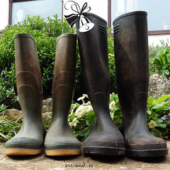 Boots! (amy's antics) Tags: wah wearehere wellyboots essentialfootwear weedpatch