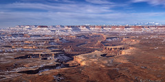 A Slow Excavation (Bill Bowman) Tags: canyonlandsnationalpark canyonlands greenriveroverlook cleopatraschair mazedistrict turkshead winter henrymountains