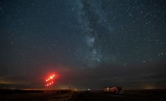 Truck Stop stars (Christy Turner Photography) Tags: stars night nightscape astrophotography moon auroraborealis