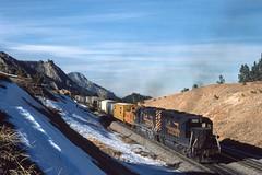 RR-19790218-DRGW-4 (skyviewtim) Tags: 3pm drgw3100 feb181979 helpers plainview train181 slide
