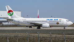 EY-444 Tajik Air Boeing 737-3L9 (Nathan_Ivanov) Tags: airplane aircraft vko vnukovo uuww spotting boeing boeing737