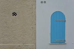 closed window (Hayashina) Tags: sardegna alghero italy window blue hole wall hww
