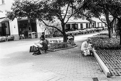 Watercolor painting group (Thanathip Moolvong) Tags: rangefinder olympus 35 ep ilford hp5 plus film bw outdoor painting watercolor