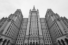 Kudrinskaya Square Building (zaxarou77) Tags: kudrinskaya square building kudrinskayasquarebuilding sony ilce a7 a7m2 markii a72 russia moscow city architecture bw blackwhite cz carl zeiss 1635mm 1635f4 fe fe1635f4z