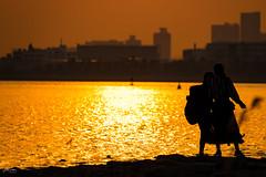 Beyond Love (ZorbaWong) Tags: girl sunset shadow sea japan friendship portrait