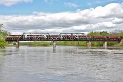 British bridge crossing (gsebenste) Tags: britishcolumbiarail bcol bnsf trains bridge river rockriver oregon illinois