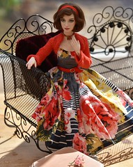 Rosie in Red (stashraider) Tags: rosie natalia loseva resin ball jointed doll dress shrug anneuk