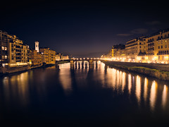 Firenze at night (dvd.otero) Tags: firenze night arno river lights florence italy