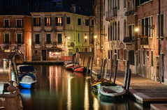 Night of Del Magazen (henriksundholm.com) Tags: city urban architecture buildings canal water boats night shadows medieval history historical venice italy hdr