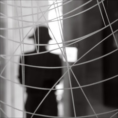 F_MG_2048-2-Canon 6DII-Tamron 28-300mm-May Lee 廖藹淳 (May-margy) Tags: maymargy bw 黑白 人像 背影 逆光 剪影 玻璃 紋路 模糊 散景 街拍 線條造型與光影 天馬行空鏡頭的異想世界 心象意象與影像 幾何構圖 點人 台灣攝影師 新北市 台灣 中華民國 fmg20482 portrait backlighting viewfromback silhouette blur bokeh glass printedlines humaningeometry humanelement streetviewphotography linesformsandlightandshadow mylensandmyimagination naturalcoincidencethrumylens taiwanphotographer newtaipeicity taiwan repofchina canon6dii tamron28300mm maylee廖藹淳