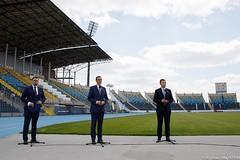 Wizyta na Stadionie Zawiszy (Kancelaria Premiera) Tags: premier mateuszmorawiecki stadionzawiszy halalekkoatletyczna bydgoszcz wizyta