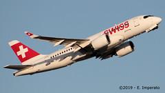 Swiss, Airbus A220 > HB-JBA (FLR/LIRQ) 10.05.2019 (Ernesto Imperato - Firenze (Italia)) Tags: swiss a220 cs100 bombardier airbus firenze peretola vespucci flr lirq hbjba