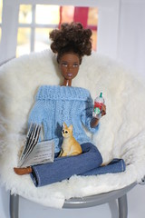 I decided to relax after a day of shopping in the city. All went well (darqq_seraphim) Tags: barbie barbiedolls barbieandfriends barbiebooks barbiefood khiasstory khais stray barbieanimals madetomove yellowmadetomove clicknplaycat americangirlchair diybarbiebook khiasstraybarbieoversizedchair khiarelaxing