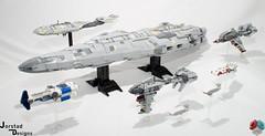 DSC_1486 (Jorstad Designs, LLC) Tags: lego star wars rebel alliance fleet mon calamari scale moc ucs jorstad designs llc mc80a mc80b home one liberty cruiser class hammerhead corvette mc30c frigate dp20 blockade runner