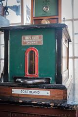 Train Tabled machine for the Goathland-Levisham segment, in signal box Levisham, NYMRwy. (blair.kooistra) Tags: 2019 britain england heritage heritagerailways steam uk northyorkshiremoorsrailway railway locomotive northyorkmoors goathland whitby grosmont lms lner southernrailway
