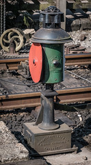 A switch point indicator, I believe. Levisham, NYMRwy. (blair.kooistra) Tags: 2019 britain england heritage heritagerailways steam uk hc northyorkshiremoorsrailway railway locomotive northyorkmoors goathland whitby grosmont lms lner southernrailway
