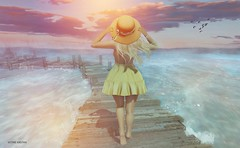 Are you lost enough? (Sistine Kristan (Sisely) - Toolbox Chicks) Tags: teefy mesh maitreya focus poses hat summer boardwalk secondlife sl blog photography