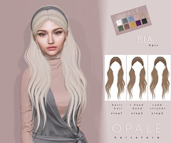 Opale Hair . Pia @ Tres Chic April 2019 (Opale HairStore) Tags: opale hair pia 3d salon second life sl style tres chic event