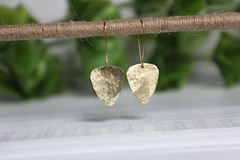 1S7A0524 (joeviejewelry) Tags: brass guitar pick earring hammered blank