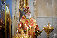 10.05.2019 - В канун дня памяти святителя Кирилла Туровского Патриарший Экзарх совершил всенощное бдение в храме МинДА
