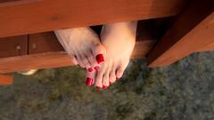 Sand, Sea, Red (IPMT) Tags: toenail sexy toes polish foot feet pedicure pedi barefoot barefeet zoya descalza pies painted toenails rekha rojo red vermelho