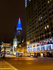 Tower City Center at Night (Tom Ipri) Tags: buildings towercitycenter samsunggalaxys9plus architecture cleveland ohio unitedstatesofamerica