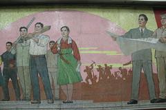 Murals at Kaeson 개선 Metro (Ray Cunningham) Tags: pyongyang north korea dprk mural socialist realist mosaic 개선 metro kaeson