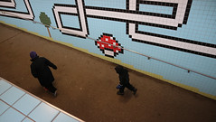 Stockholm Metro, Sweden (Joshua Khaw) Tags: stockholm metro underground station train art colour subway sweden tiles mario nintendo city urban